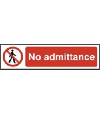 Sign Mini No Admittance