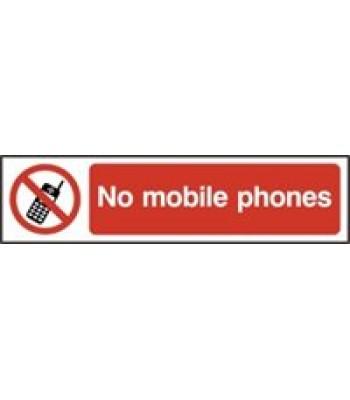 Sign Mini No Mobile Phones