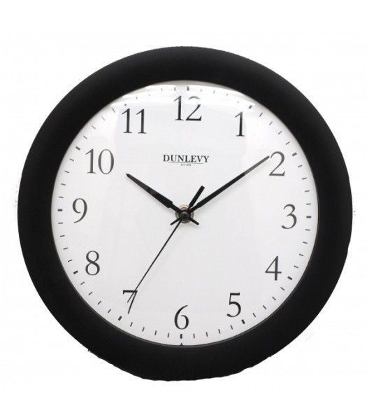 Wall Clock Plastic Black