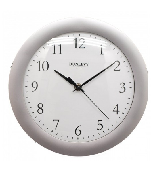 Wall Clock Plastic Silver