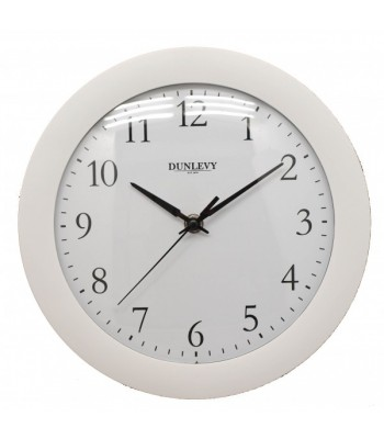Wall Clock Plastic White