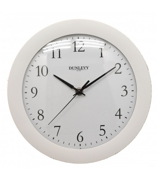 Wall Clock Plastic White