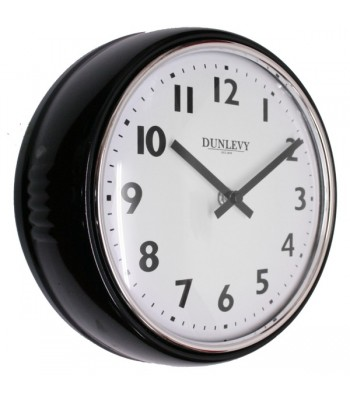 Wall Clock Retro Black