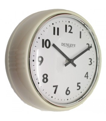 Wall Clock Retro Cream
