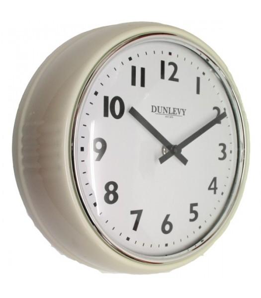 Wall Clock Retro Cream