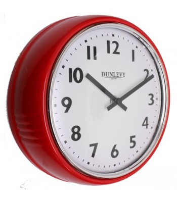 Wall Clock Retro Red