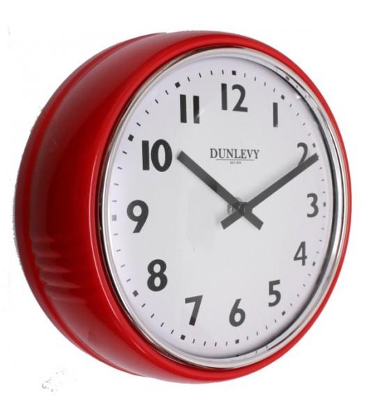 Wall Clock Retro Red
