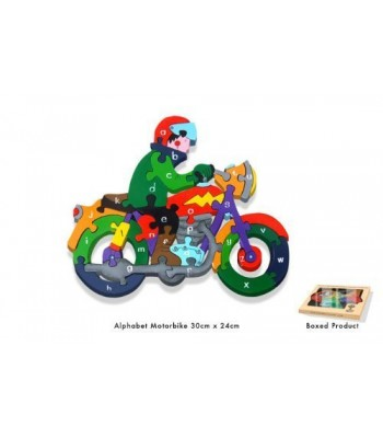 Alphabet Jigsaw Alphabet Motorbike