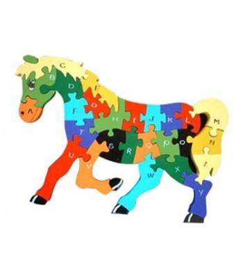 Alphabet Jigsaw Alphabet Horse