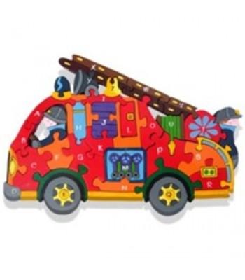 Alphabet Jigsaw Alphabet Fire Engine