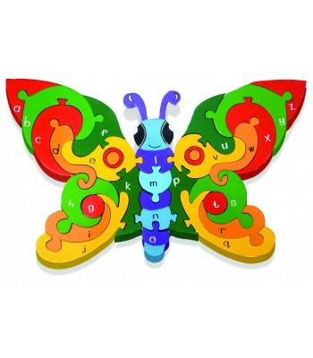 Alphabet Jigsaw Alphabet Butterfly