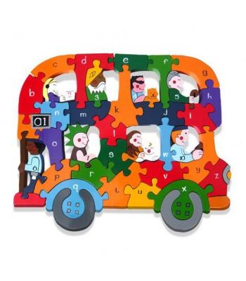 Alphabet Jigsaw Alphabet Bus