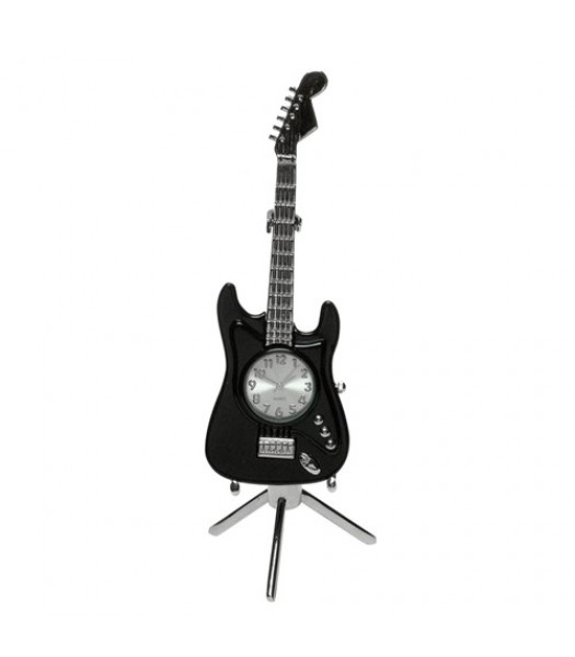 Clock Fender Guitar Black