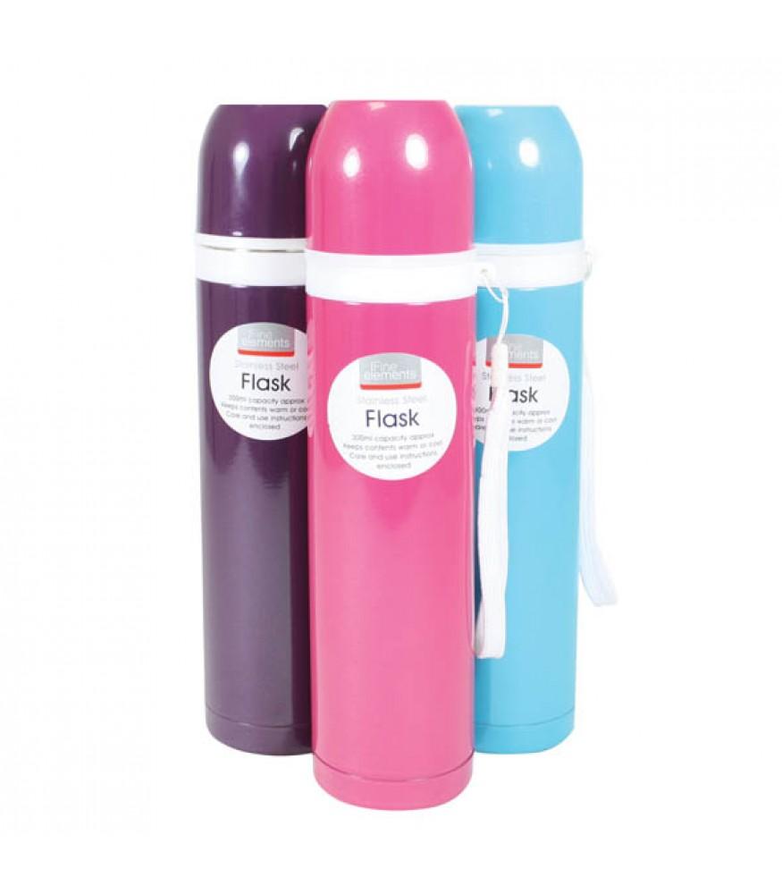 Fine Elements 300ml Stainless Steel Flask Retro