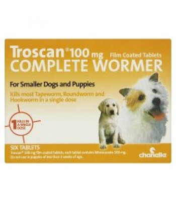 Troscan Dog Wormer Small Dogs