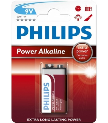 Battery 6LR61 9v Philips Alkaline